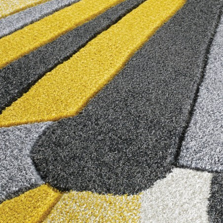 Royan Eruption Rug - Yellow Pattern Detail