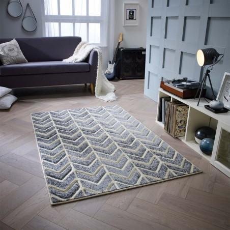 Royan Arrow Rug - Grey Room Shot