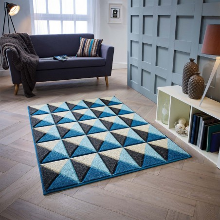 Royan Pyramid Rug - Blue Room Shot