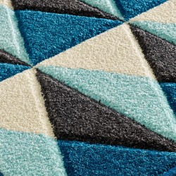 Royan Pyramid Rug - Blue Pattern Detail