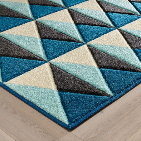 Royan Pyramid Rug - Blue Edge Detail