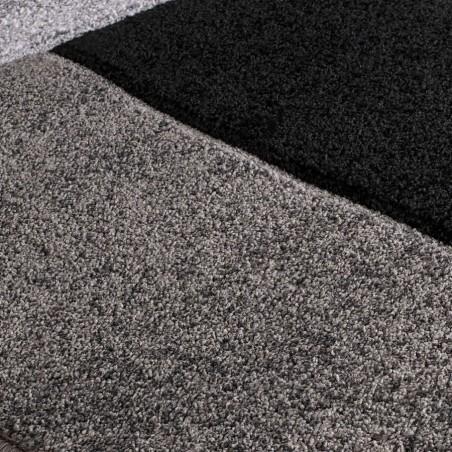 Royan Shaped Rug - Grey Pattern Detail