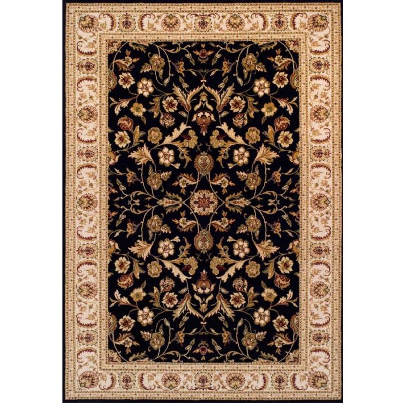 Cazma Vintage Floral Rug - Black