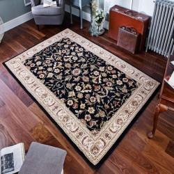 Cazma Vintage Floral Rug - Black Room Shot