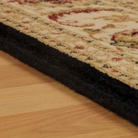 Cazma Vintage Floral Rug - Black Edge Detail