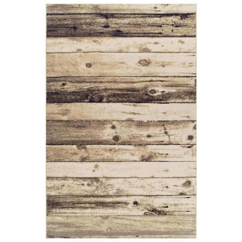 Kastro Wooden Patterned Rug