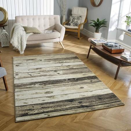 Kastro Wooden Patterned Rug Room Shot