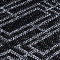 Kerch Deco Rug - Black Pattern Detail