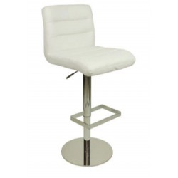 Deluxe Luscious Bar Stool - white front angled view