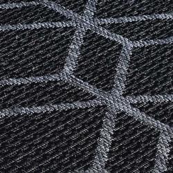 Kerch Cube Rug - Black Pattern Detail