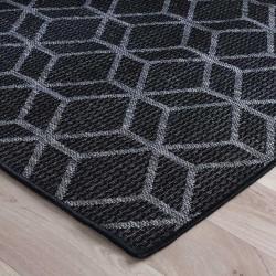 Kerch Cube Rug - Black Edge Detail
