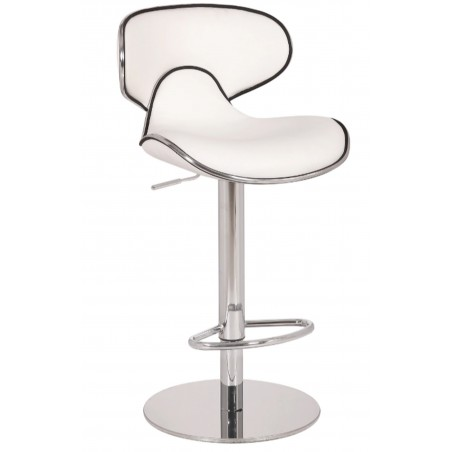 Deluxe Carcaso Kitchen Stool - white front angled view