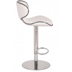 Deluxe Carcaso Kitchen Stool - white side view