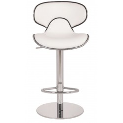 Deluxe Carcaso Kitchen Stool - white front view