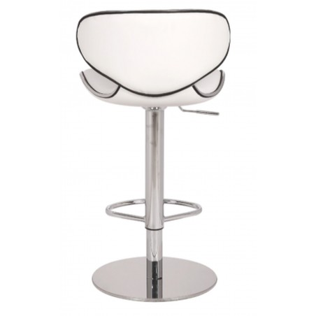 Deluxe Carcaso Kitchen Stool - white back view