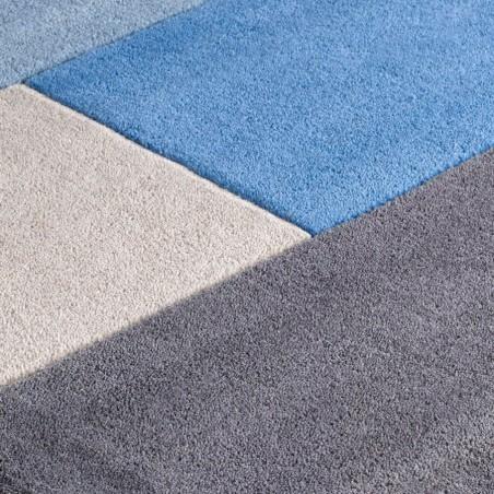 Lexus Geometric Style Rug - Blue Pattern Detail