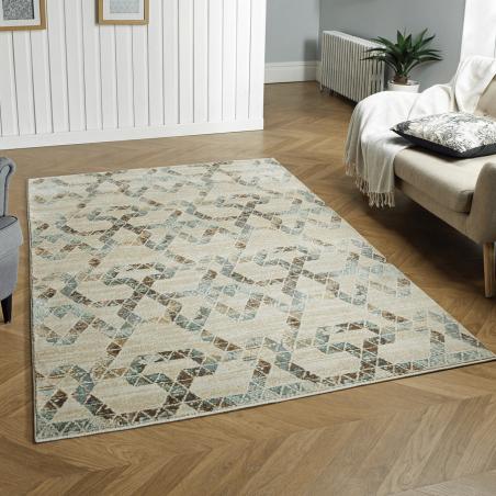 Kenaib 30Q Geometric Style Rug Room shot