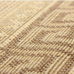 Greek Key Flatweave Rug - Beige Pattern Detail