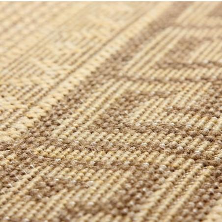 Greek Key Flatweave Rug - Beige Pattern Detail