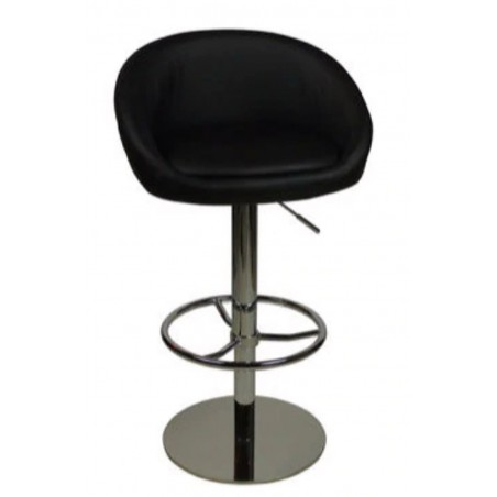 Deluxe Luca Bar Stool - black, front view