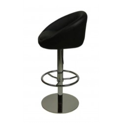 Deluxe Luca Bar Stool, black, side view