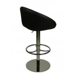 Deluxe Luca Bar Stool, black, back view