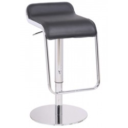 Deluxe Milano Kitchen Stool, black, front angled view