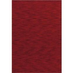 Misla Plain Wool Rug - Red