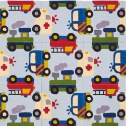 Pata Children's Vehicle-themed Rug