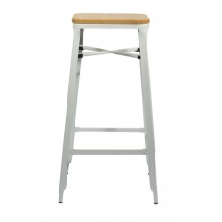Turin Bar Stool, white, side view