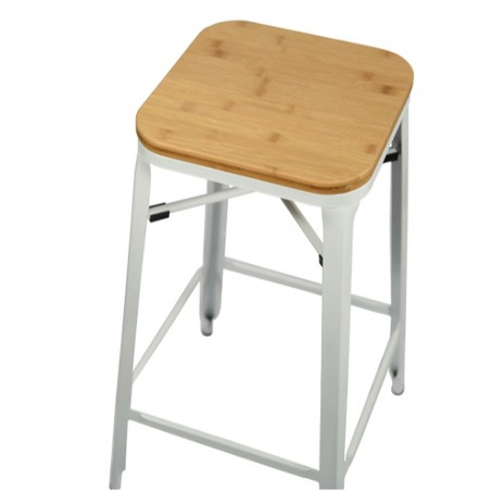 Turin Bar Stool, white, top view