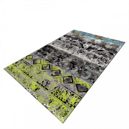 Kermao Patterned Rug Angled View