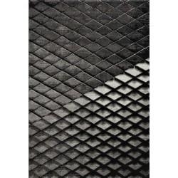 Kermao 3D Diamond Patterned Rug - Anthracite
