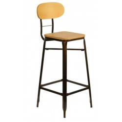 Tuscany Bar Stool, rustic, front angled view
