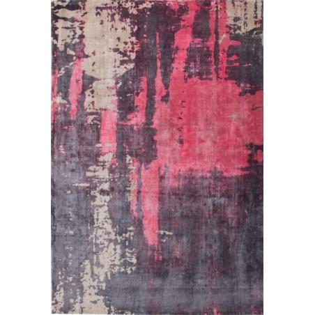Zuta Vintage Patterned Rug - Red