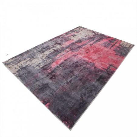 Zuta Vintage Patterned Rug - Red Angled Detail