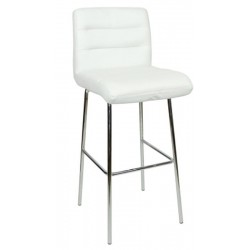 Luscious Fixed Height Bar Stool, white, front angled view