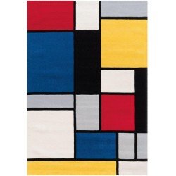 Hobyo Square Patterned Rug