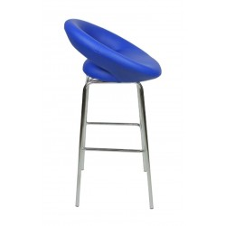 Sorrento Fixed Height Stool, blue side view