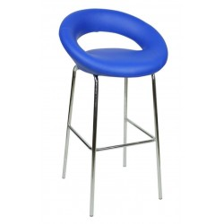 Sorrento Fixed Height Stool, blue front angled view