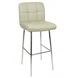 Allegro Fixed Height Bar Stool, grey, front angled view