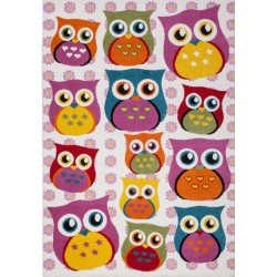 Ozero Children's Multi Owl Rug