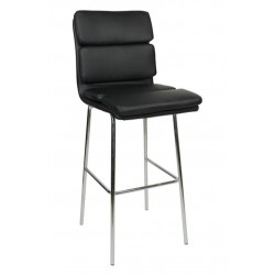 Moderno Fixed Height Bar Stool, black, front angled view