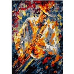 Hama Abstract Saxophone Rug