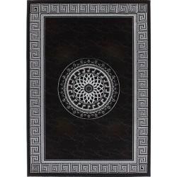 Pluda Patterned Gloss Rug - Black