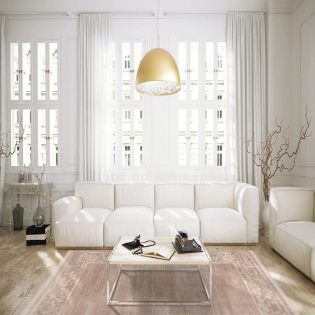 Gazzo Bordered Rug - Brown Room shot