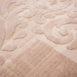 Gazzo Bordered Rug - Brown Pattern detail