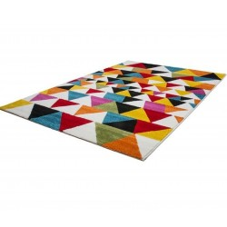 Huriel Triangular Patterned Rug Angled View