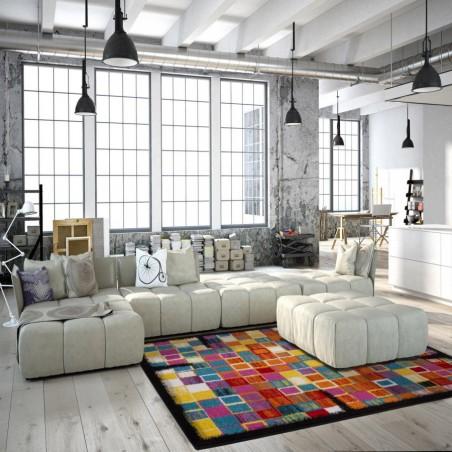 Huriel Multi Coloured Rug Room Shot