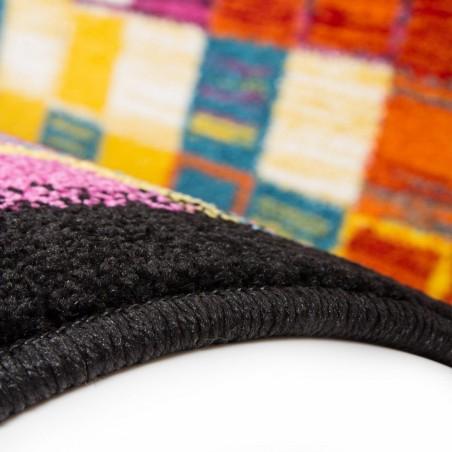 Huriel Multi Coloured Rug Pattern Detail